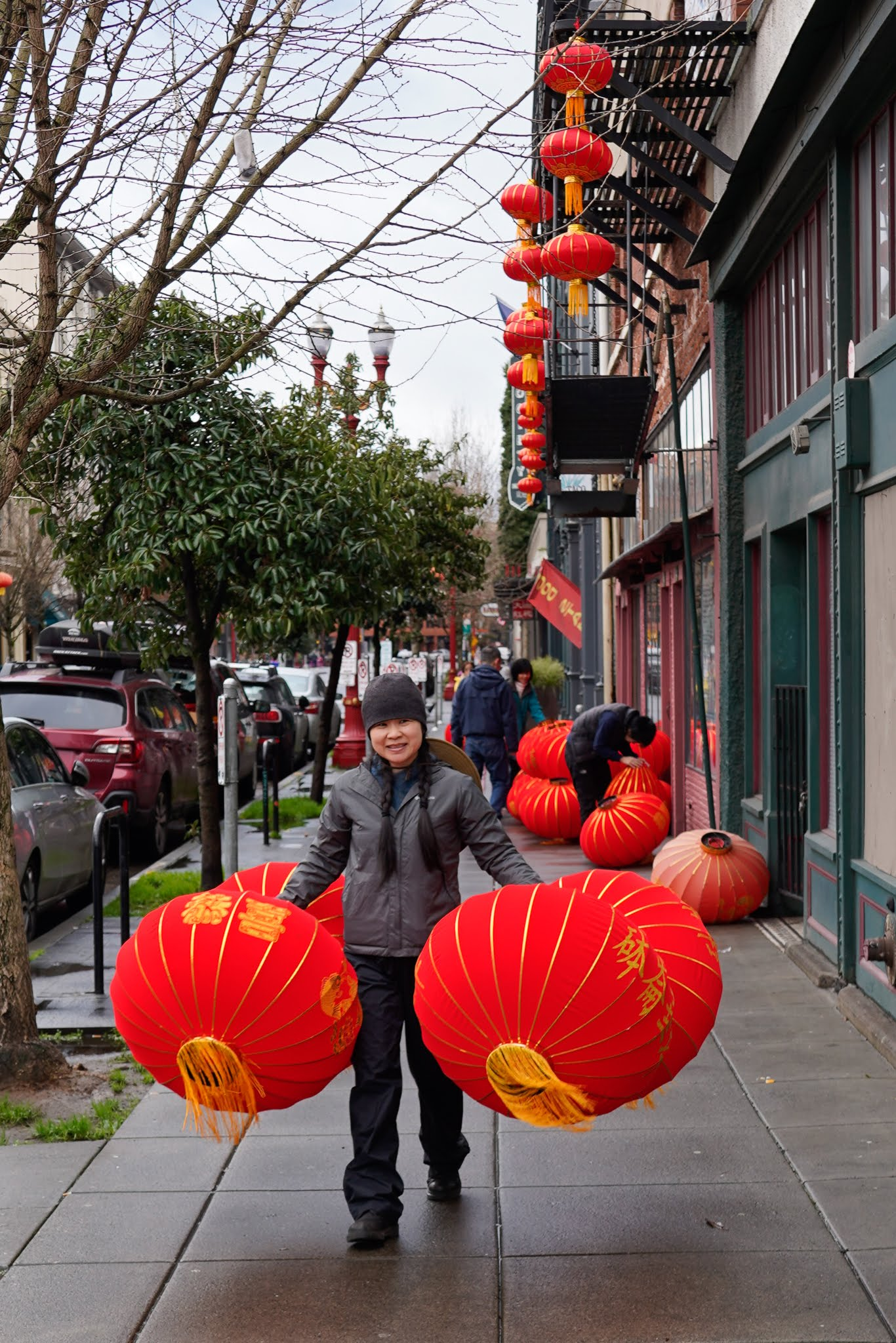 Hanging Red Lanterns In Chinatown 01 12 2020 Oregon Chinese Coalition