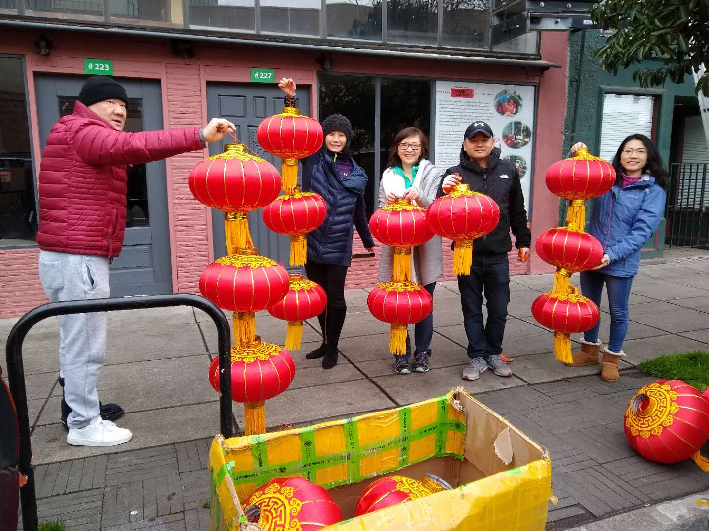 Hanging Red Lanterns In Chinatown 01 08 2020 Oregon Chinese Coalition