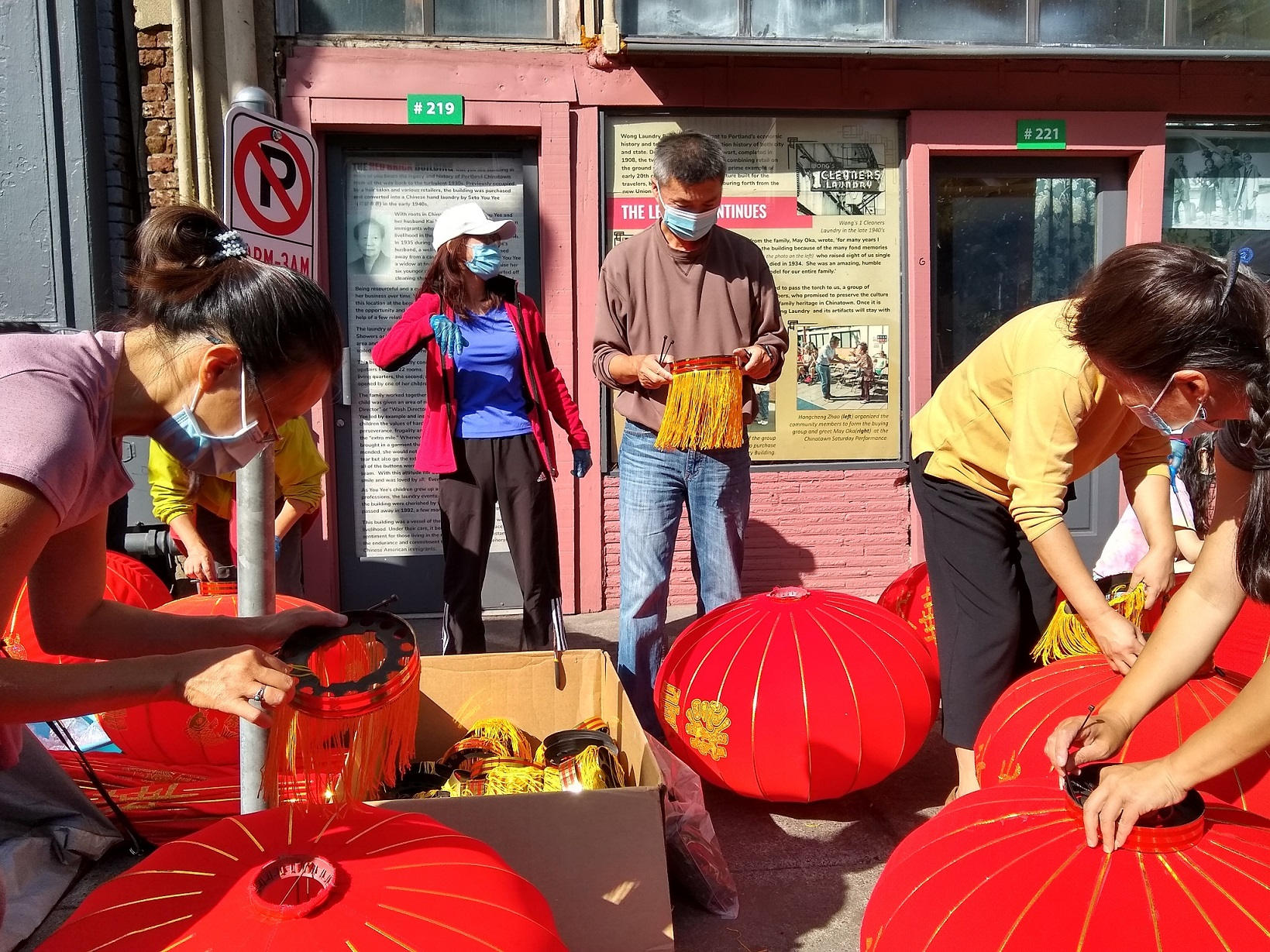 Hanging Red Lanterns In Chinatown 09 20 2020 Oregon Chinese Coalition